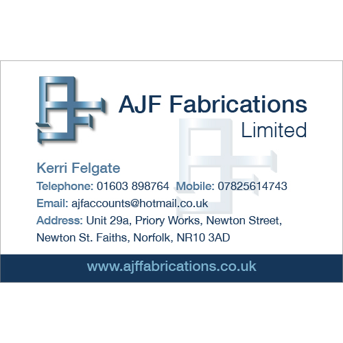 AJF business card design