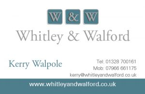 Whitley & Walford business card