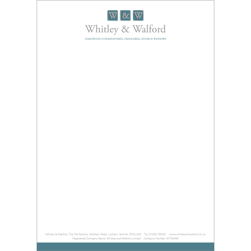 whitley & walford letterhead