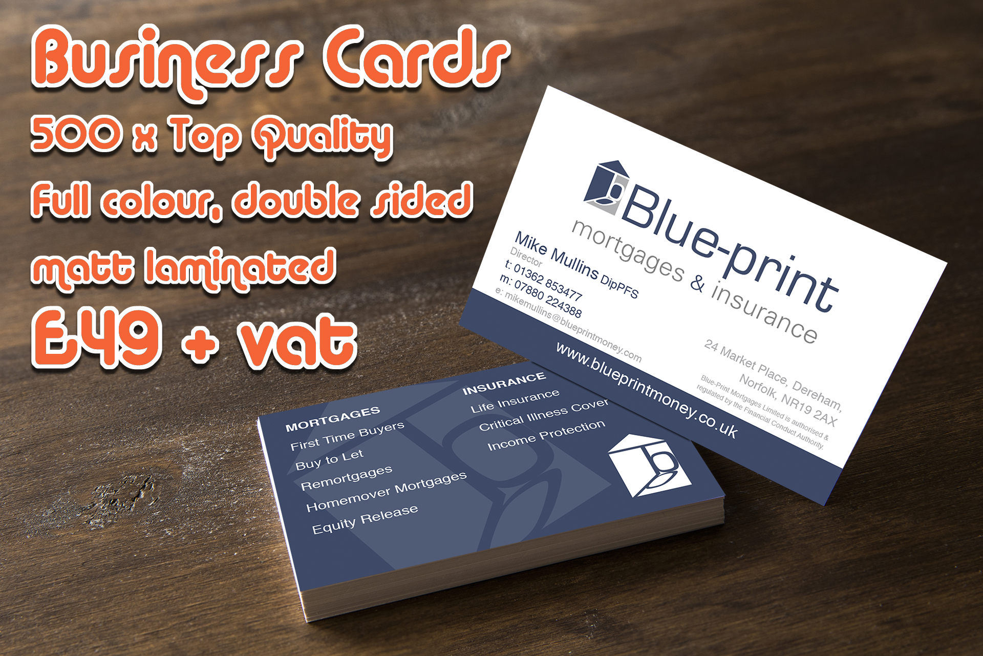Tangerine creative for creative design and photography business card printing reheart Choice Image
