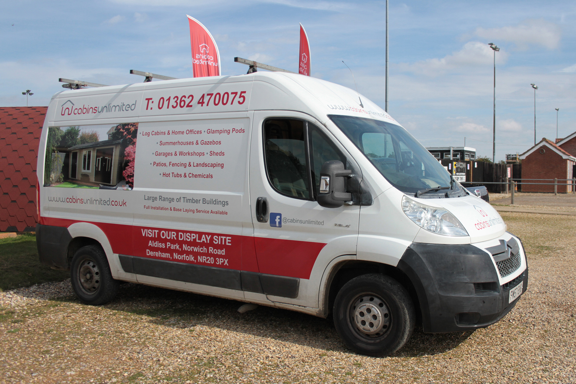 Cabins Unlimited van livery