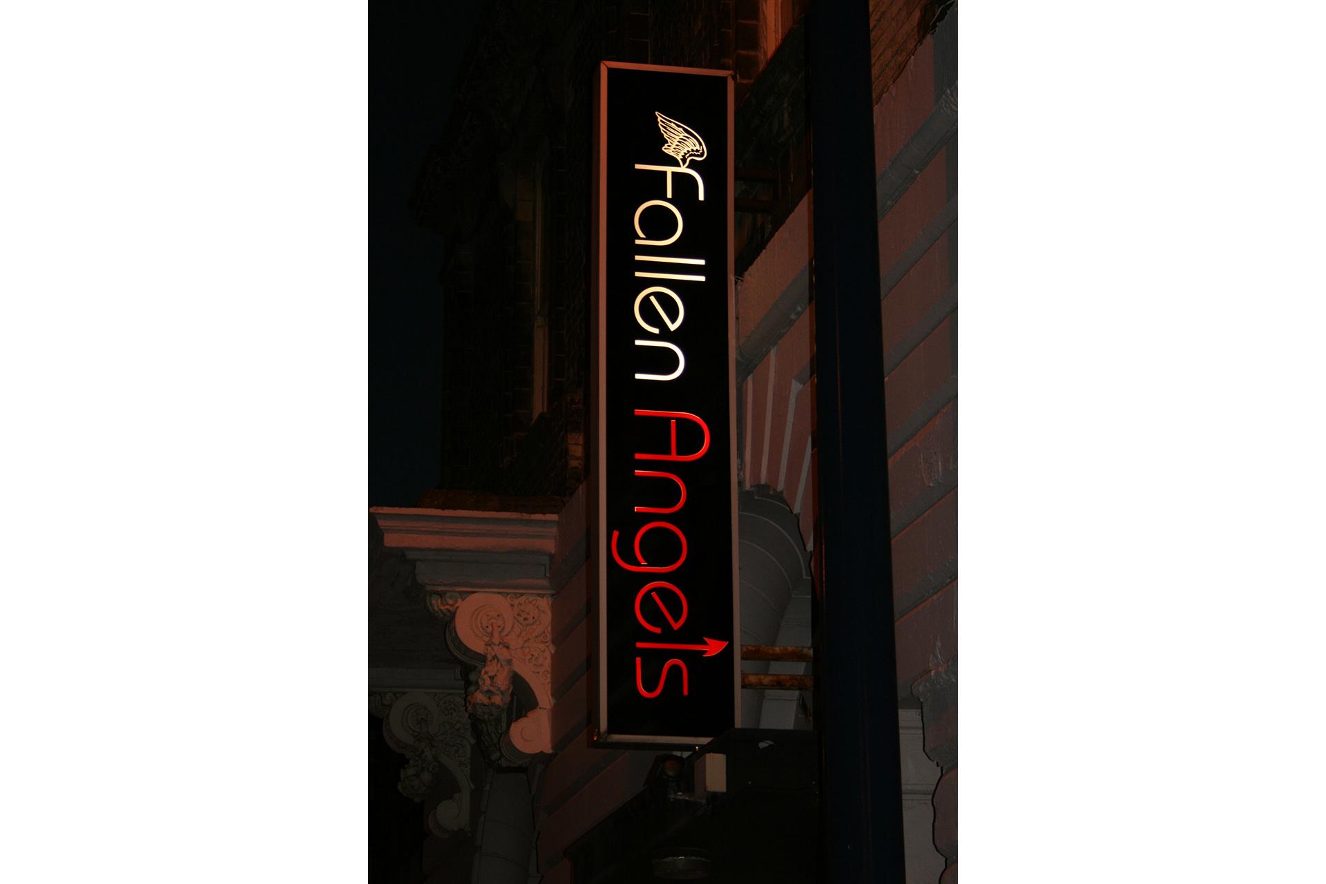 Fallen Angels light box sign
