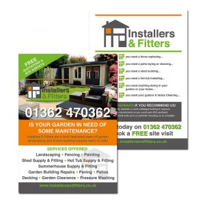 Leaflet and flyer design and print