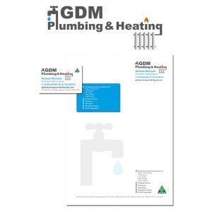 Logo and stationery design gdm