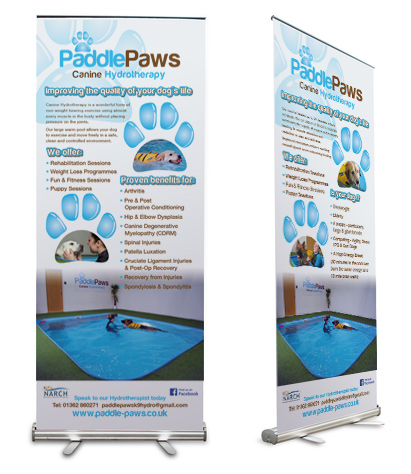 Paddle Paws Roller Banner