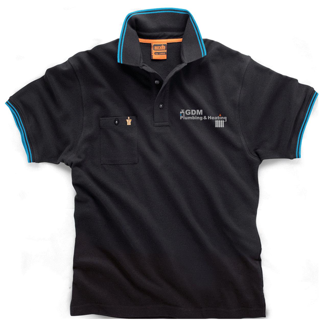 gdm branded polo