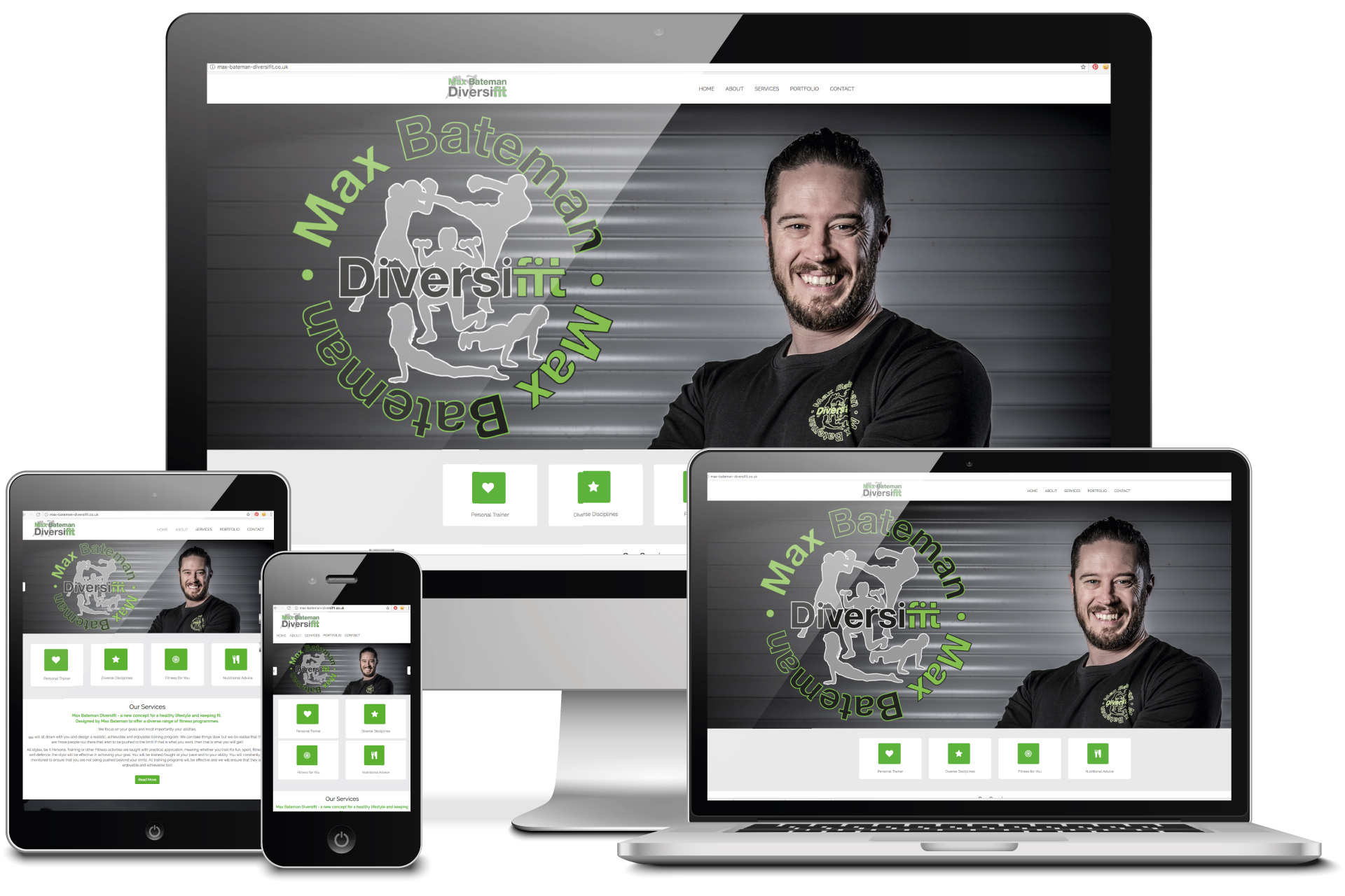 Max bateman mobile responsive brochure website